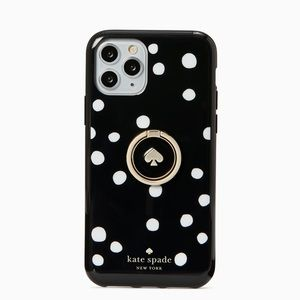 NWT Kate Spade ring & dot resin iphone 11 pro case
